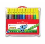 Faber-Castell Jumbi-Neon Floresan Markör, 12 Li Poşet - 5068031242
