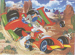 Ravens Puzzle 200 prc Super  The motor race-Tom&Jerry  '126989'