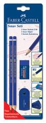 Faber-Castell Sınav Seti 2 Kalem + Silgi + Kalemtraş Blister - 5508003000