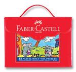 Faber-Castell Plastik Çantalı Tutuculu Pastel Boya, 18 Renk - 5281125119