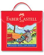 Faber-Castell Plastik Çantalı Tutuculu Pastel Boya, 24 Renk - 5281125125