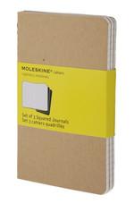 Moleskine Cahier Pocket Squared Notebook Kraft (Kareli 3'lü Paket Bej)