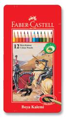 Faber-Castell Metal Kutu Boya Kalemi 12 Renk - 5170115844