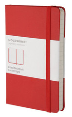 Moleskine Pocket Ruled Hard Cover Notebook - Çizgili Kırmızı Defter