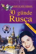 30 Günde Rusça-1 Kitap+2 CD - Kutulu