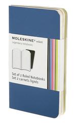 Moleskine Volant X-Small Ruled Notebook (Çizgili 2'li Lacivert)