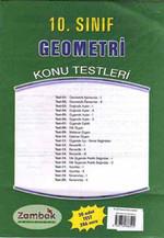 10.Sınıf Geometri Konu Testi  (24 Yaprak - 2008 )