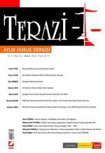 Terazi Aylık Hukuk Dergisi - Sayı 52