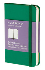 Moleskine X Small Plain Hard Cover Notebook - Düz Yeşil Defter
