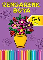 Rengarenk Boya 5-6 Yaş Mor Kitap