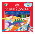 Faber-Castell 110624 Kuruboya Aquarell 24'lü Karton Kutu