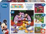 Educa Puzzle Mickey Mouse Club House 12-16-20-25 15288 Karton Disney