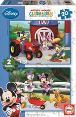 Educa Puzzle Mickey Mouse Club House 2X20 15290 Karton Disney