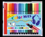 Stabilo Pen 68 Mini Color Hits Cd 15 Renk Asma Halkali    668/15-021