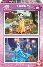 Educa Puzzle Pamuk Prenses Ve Sindirella 15593 2X20 Disney Karton