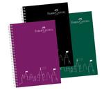 Faber-Castell PP Kapak Koyu Renkler Çizgili Defter, 80 Yaprak 5075400105