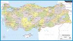 Discovery Duvar Harita 60x100 Türkiye Siyasi