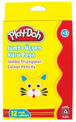 Play-Doh 12 Renk Jumbo Üçgen Kuru Boya PLAY-KU008