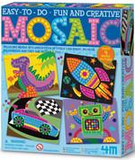 4M Eğlenceli Mozaik / Dino - Roket - Robot ve Yarış Arabası 4599