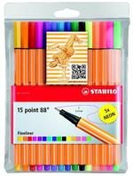 Stabilo Point 88 Askılı Paket 15 Renk (Neonlu) 8815-1