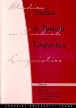 Studies in Turkish LinguisticsProceedings of the Tenth International Conference in Turkish Linguis