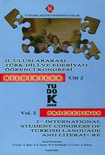 2. Uluslararası Türk Dili ve Edebiyatı Öğrenci Kongresi Cilt: 1
