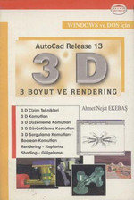 AutoCAD 13 -3 Boyut ve Rendering
