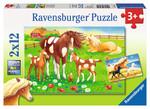 Ravensburger Puzzle Atlar 2x12 Parça 75614