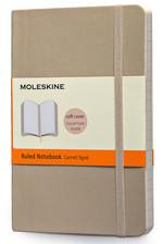 Moleskine Pocket Ruled Soft Cover Notebook - Çizgili Bej Defter