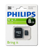 Philips FM08MA35P/97 8 Gb Class4 Adaptörlü Micro SD Kart Bellek 13412