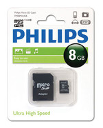 Philips FM08MA45B/97 8 Gb Class10 Adaptörlü Micro SD Kart Bellek 13415
