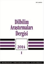 Dilbilim Araştırmarı 2014 / 1