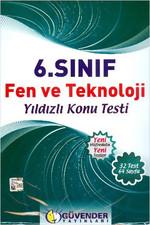 Güvender 6 Sınıf Fen ve Teknoloji Poşet Test 32 Adet