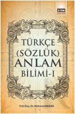 Türkçe Sözlük Anlam Bilimi - 1