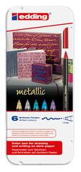 Edding Grafik Kalemi Metalık 6'lı Metal Kutu E-1200