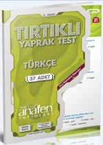 Anafen 2.Sınıf Türkçe Tırtıklı Yaprak Test - 37 Yaprak DVD'li