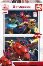 Educa Puzzle Çocuk 2 X 100 Big Hero 6 16337 Karton
