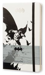 Moleskine Limited Edition Batman Plain Large Hard Cover Black - Siyah Düz Defter