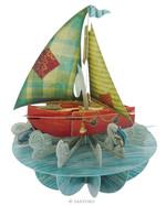 Santoro Gorjuss Pirouettes Sailing Boat 3D Kart Ps002