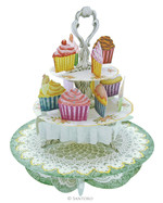 Santoro Gorjuss Pirouettes Cup-Cake Tea Time 3D Kart Ps004