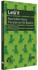 Leta'if - Nasreddin Hoca Fıkralarının İlk Baskısı