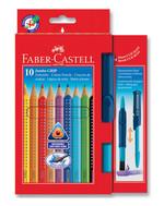 Faber-Castell Jumbo Grip Boya Kalemi 10 Renk+Fırça 5170110914