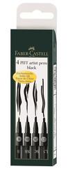 Faber-Castell Pitt Artist Pen 4'lü Siyah Farklı Uç 5188167139