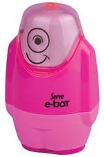 Serve E-Bot Silgili Kalemtıraş Fosforlu Pembe