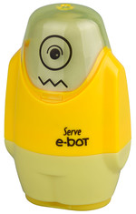Serve E-Bot Silgili Kalemtıraş Fosforlu Sarı
