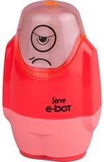 Serve E-Bot Silgili Kalemtıraş Fosforlu Kırmızı