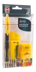 Serve 0.5mm 2B Creative Kalem Seti Sarı SV-CDC05K3S