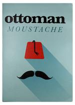 Conteiner Book Ottoman Moustache Karton Kapak Çizgisiz Defter