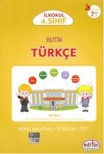 Editör 4. Sınıf Butik Türkçe Konu Anlatımlı - Etkinlik - Test