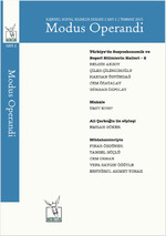 İlişkisel Sosyal Bilimler Dergisi Sayı 2 - Modus Operandi